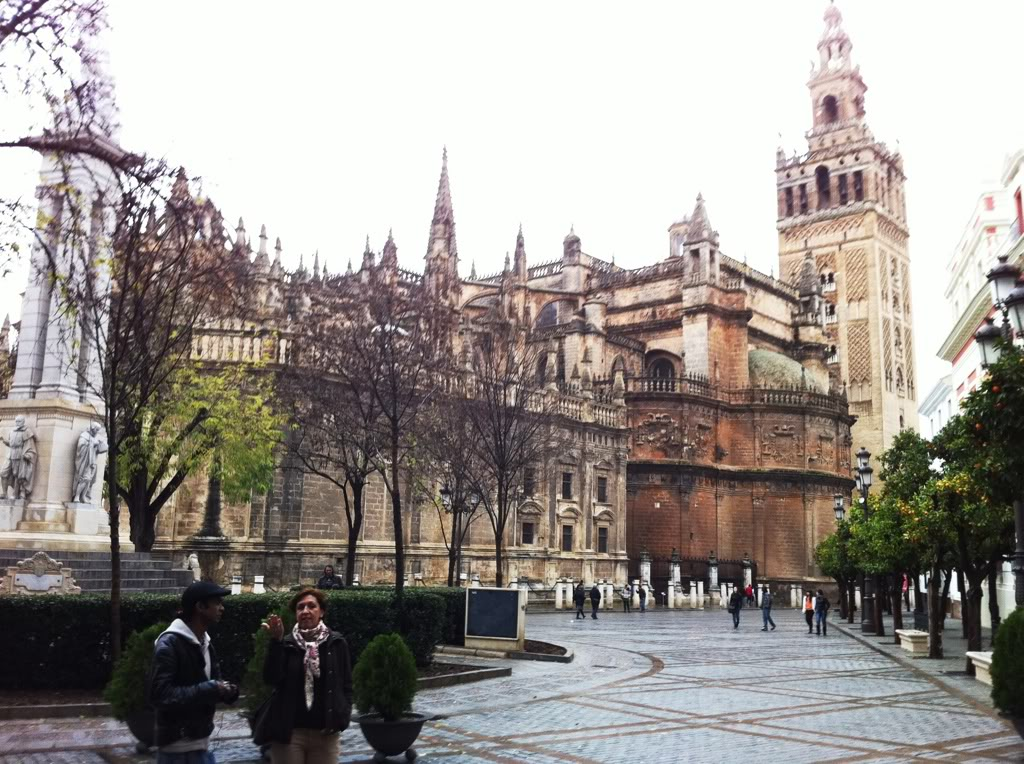 Seville Cathedral with the Giralda Tower