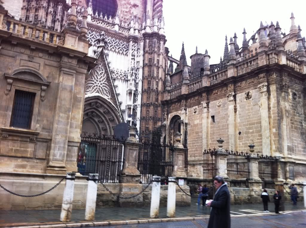Outside the Seville Cathedral