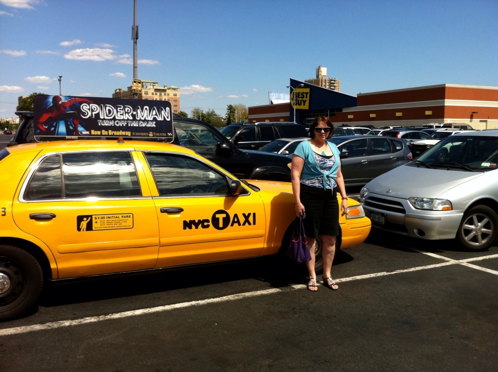 Fran by a New York City Yellow Cab