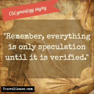 Remember, everything is only speculation until it is verified.