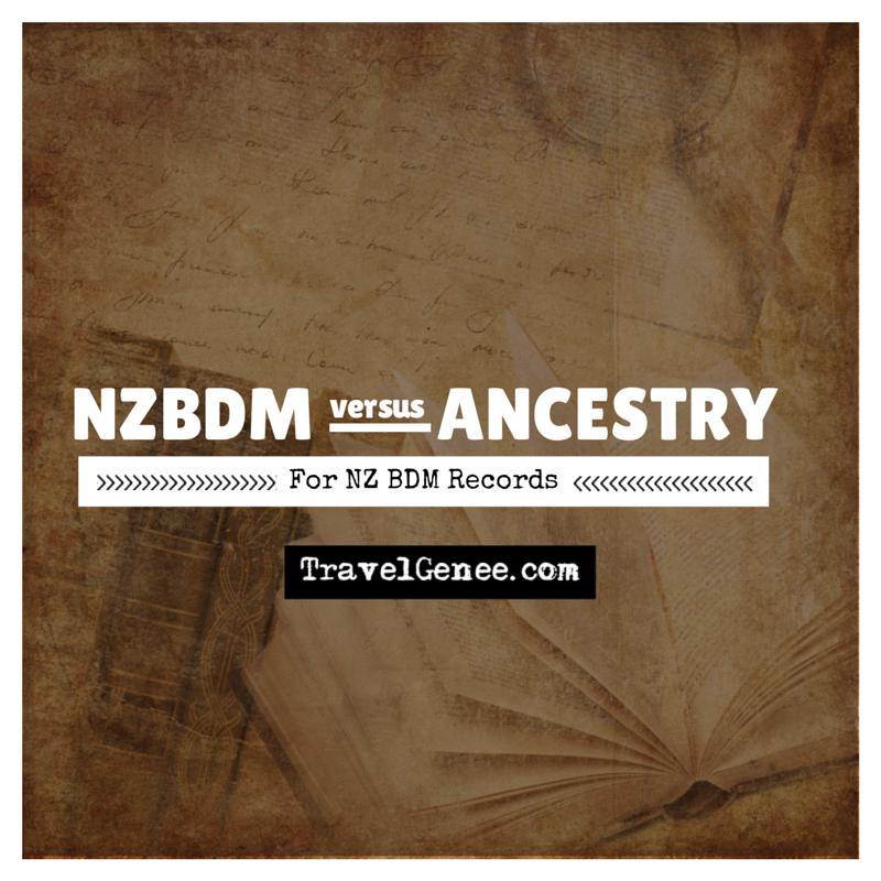 NZBDM versus Ancestry for NZ BDM data