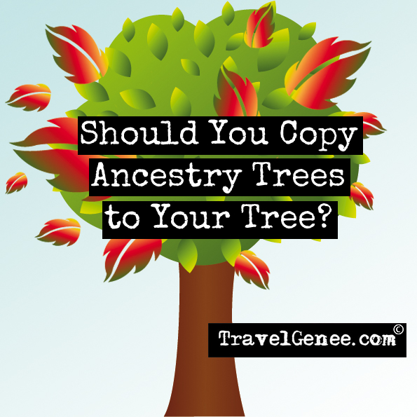Should you copy ancestry trees to your tree?