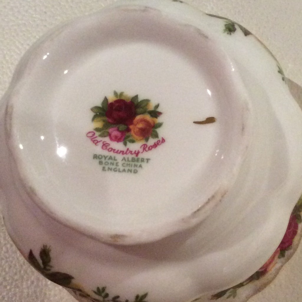 """Stamp Showing """"Bone China and made in """"England"""""""