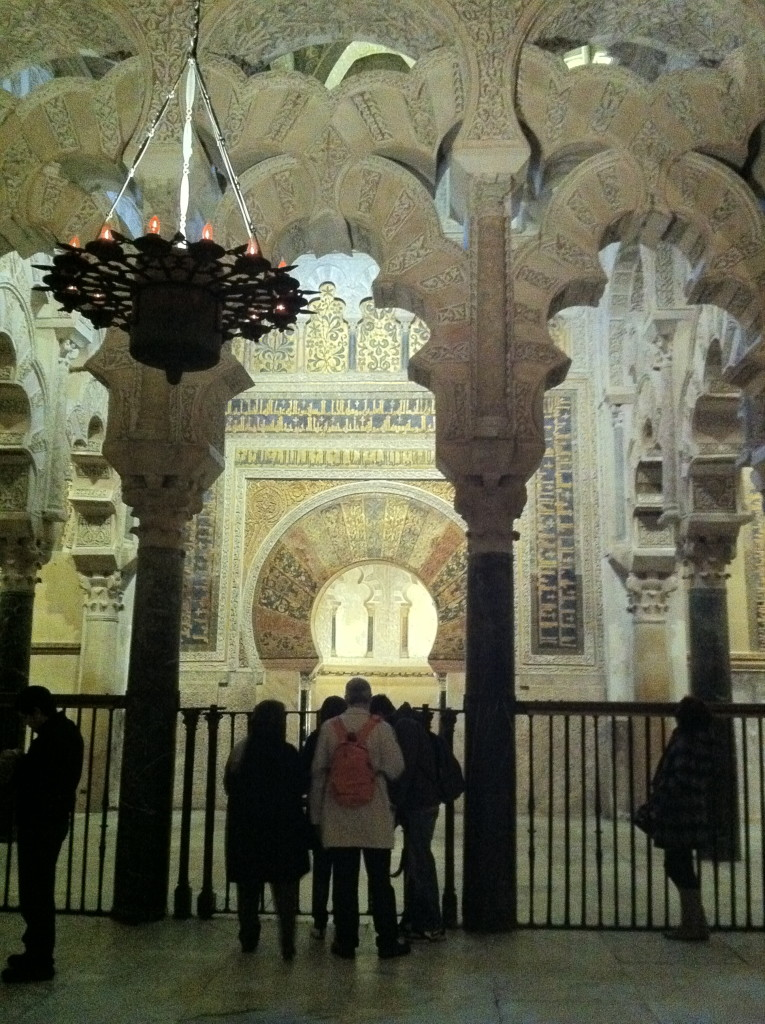 Inside the Great Mosque at Cordoba, Spain,