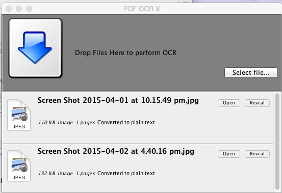 Screen view of PDF OCR X Software