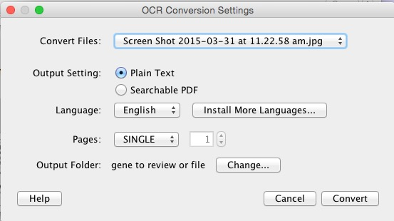 Conversion Settings PDF OCR X 2