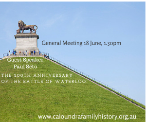 18 June 2015 General Meeting