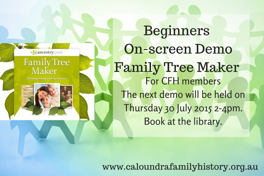 CFH Beginners On-screen DemoFamily Tree
