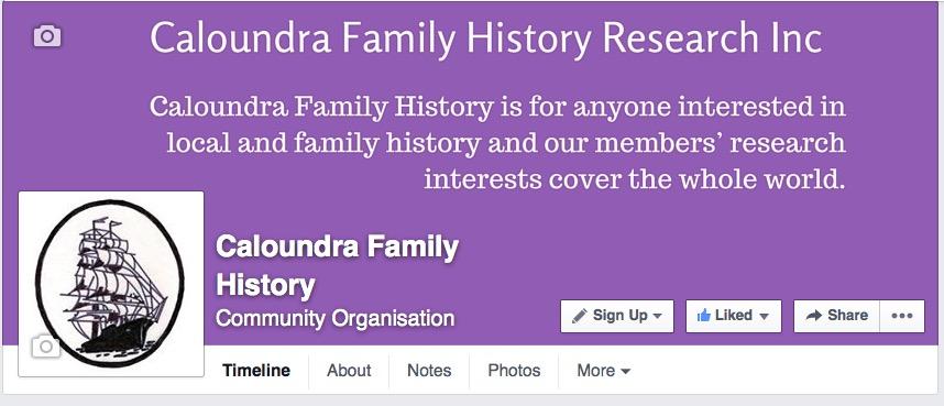 Caloundra Family History Facebook Page