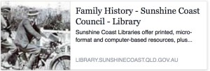 Sunshine Coast Library genealogy resources