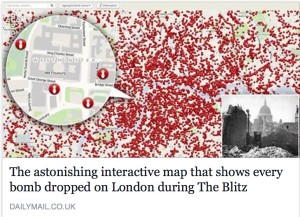The astonishing interactive map that shows EVERY German bomb dropped on London during WW2 Blitz - family history on facebook