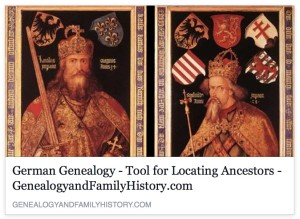 German Genealogy - Tool for Locating Ancestors