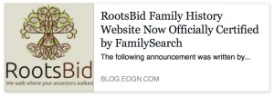 RootsBid Family History Website