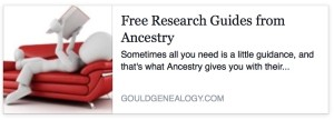 Free Research Guides from Ancestry via Gould Genealogy