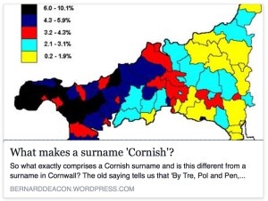 What makes a surname Cornish with Family History Finds