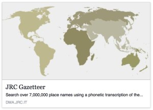 JCR Gazetteers helps find places