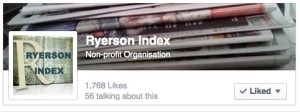 Like the Facebook page for the Ryerson Index