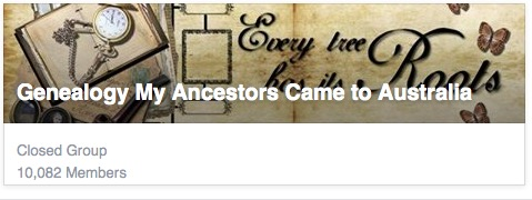 Genealogy My Ancestors came to Australia Facebook Page.