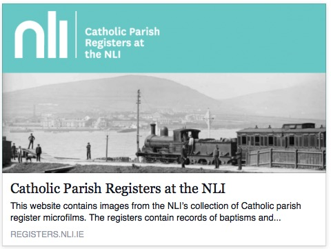National Library of Ireland's collection of Catholic parish register