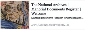Manorial Documents Register (MDR)