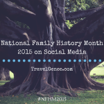 Family History Month 2015 on Social Media