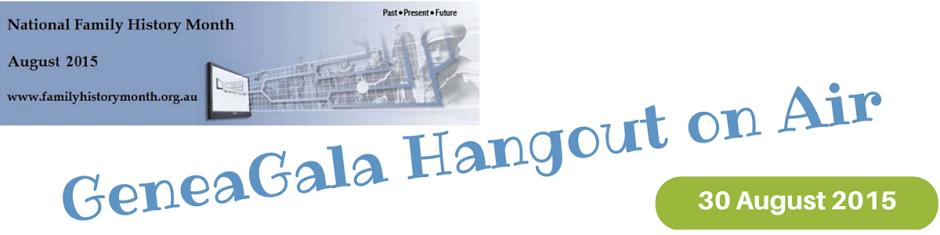 GeneaGala Google Plus Hangout Time Check