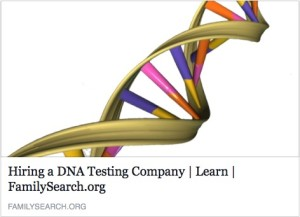 Family Search DNA resources