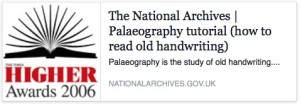 Palaeography: reading old handwriting 1500 - 1800 A practical online tutorial