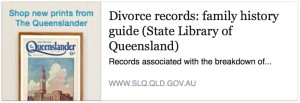 Divorce records: family history research
