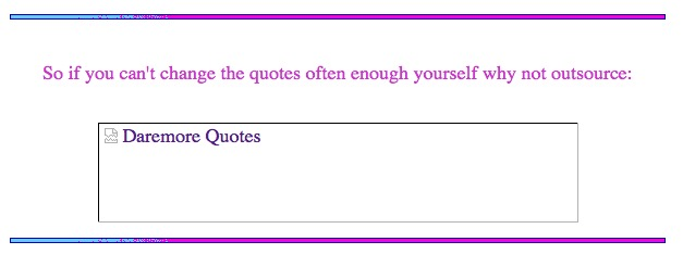Outsourcing quotes - Geocities