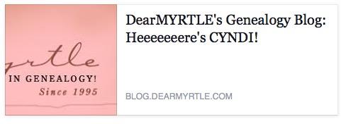 Dear Myrte's special guest Gyndi of CyndisList.com