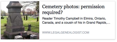 ← DNA: the basics and way beyond Photos and the family homestead → Cemetery photos: permission required?