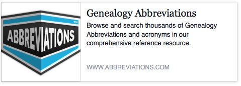 Genealogy Abbreviations List