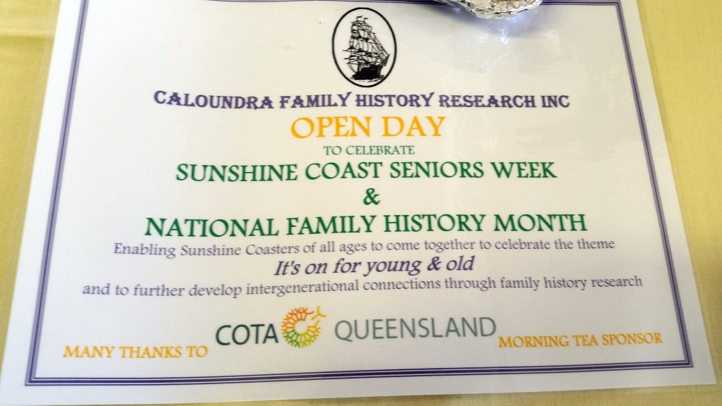 CFH Family History Month August 2015