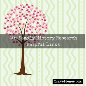 40+ Family History Research Helpful Links - Genealogy Website
