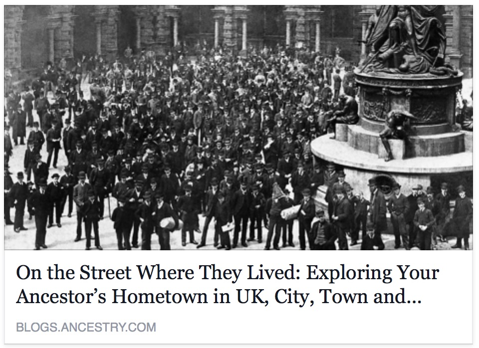 On the Street Where They Lived: Exploring Your Ancestor's Hometown in UK, City, Town and Village Photos, 1857-2005 Collection