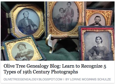Learn to Recognize 5 Types of 19th Century Photographs Read more: http://olivetreegenealogy.blogspot.com/2015/08/learn-to-recognize-5-types-of-19th.html#ixzz3pCs6R23b