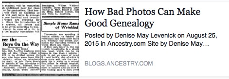 How Bad Photos Can Make Good Genealogy