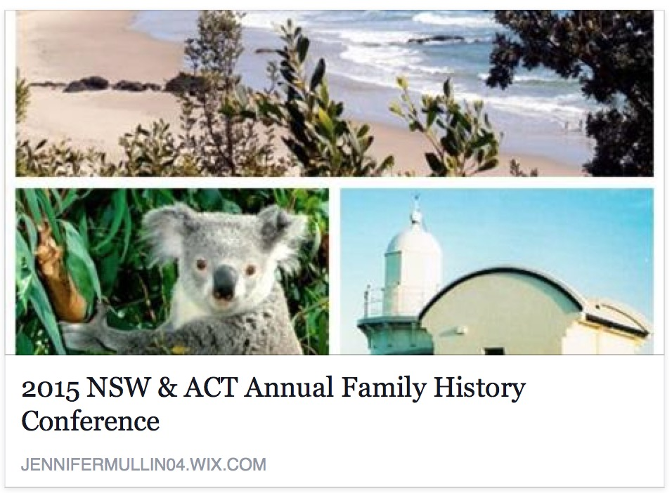 NSW & ACT Association of Family History Societies Inc Annual Conference 2015 Port Macquarie