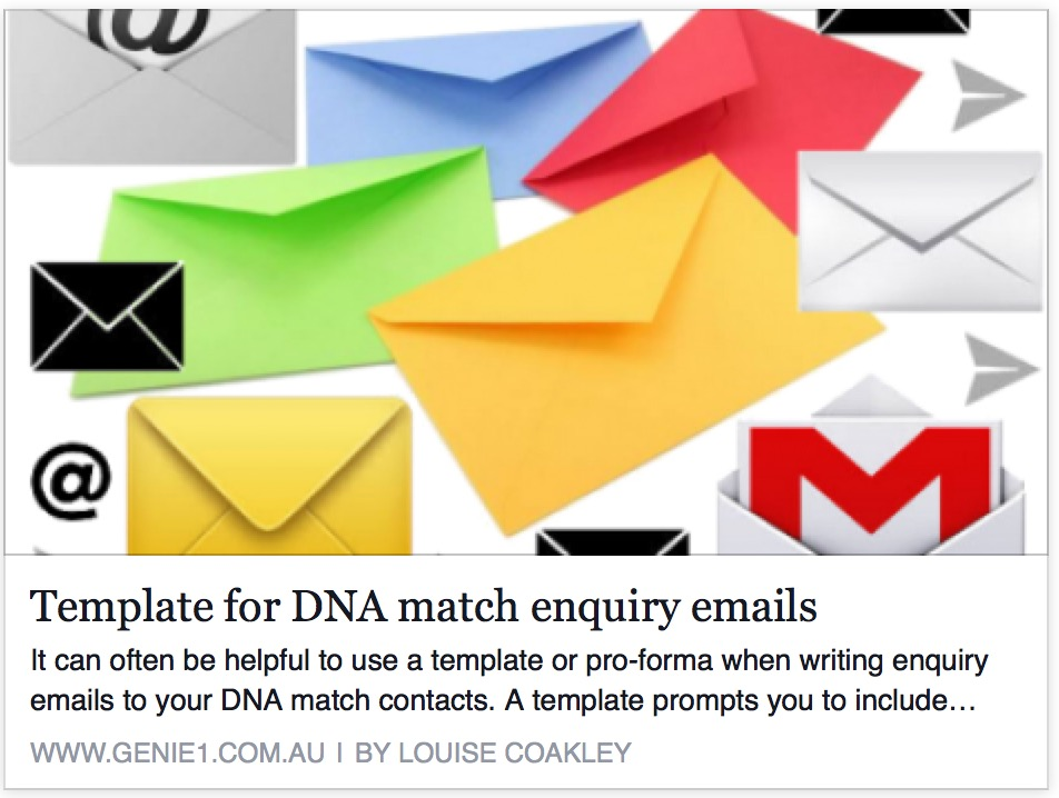 Template for DNA match enquiry emails