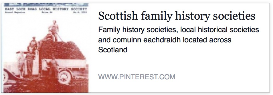 Collection of Scottish family History Societies