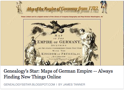 German Maps on James Tanner's post