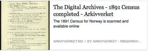The digitising of the 1891 for Norway