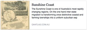 Queensland Historical Atlas - Sunshine Coast