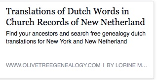 Dutch translations for Genealogy