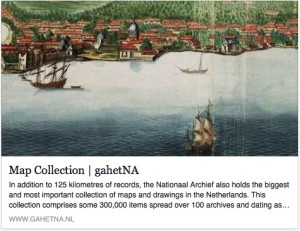 Map Collection at Dutch National Archives