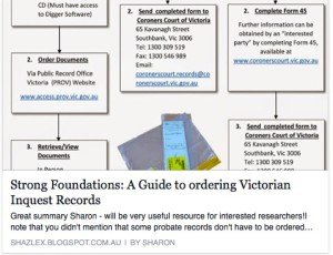 A Guide to ordering Victorian Inquest Records.