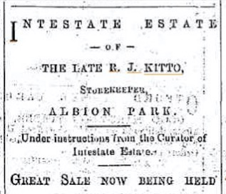 Kitto Intestate Estate Great Sale
