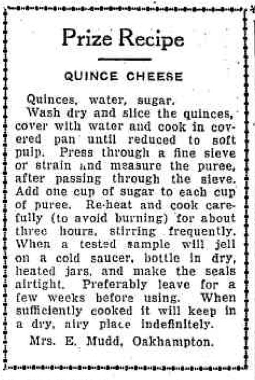 Trove: Winning Quince Recipe