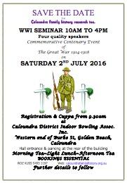 WW1 Seminar